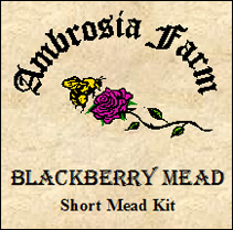 Blackberry Mead is a real treat, based on Blackberries & Rosehips with ...
